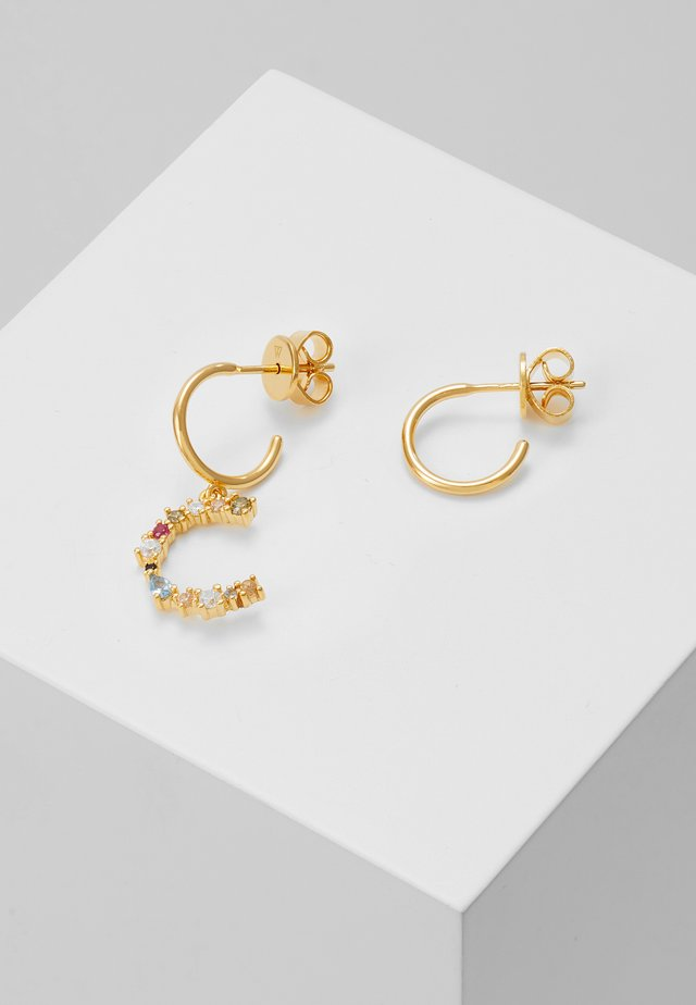 E EARRING - Boucles d'oreilles - gold-coloured