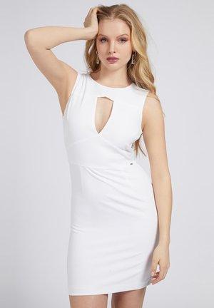 PATTI DRESS - Shift dress - weiß