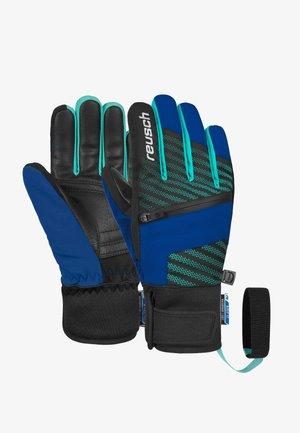 Gloves - black / imperial blue