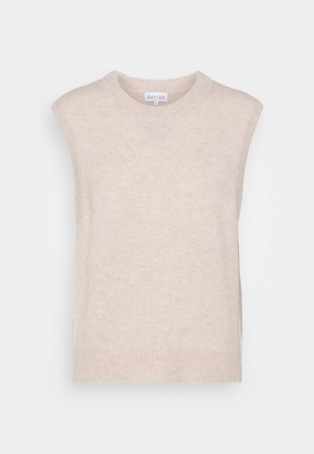 O-NECK - Neule - light beige