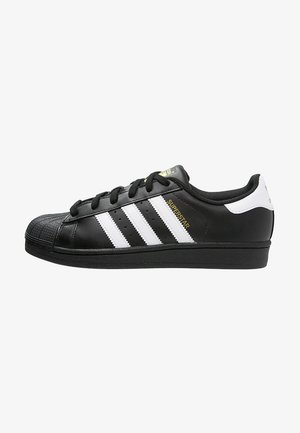 SUPERSTAR FOUNDATION ALL BLACK STYLE SHOES - Matalavartiset tennarit - noir / blanc