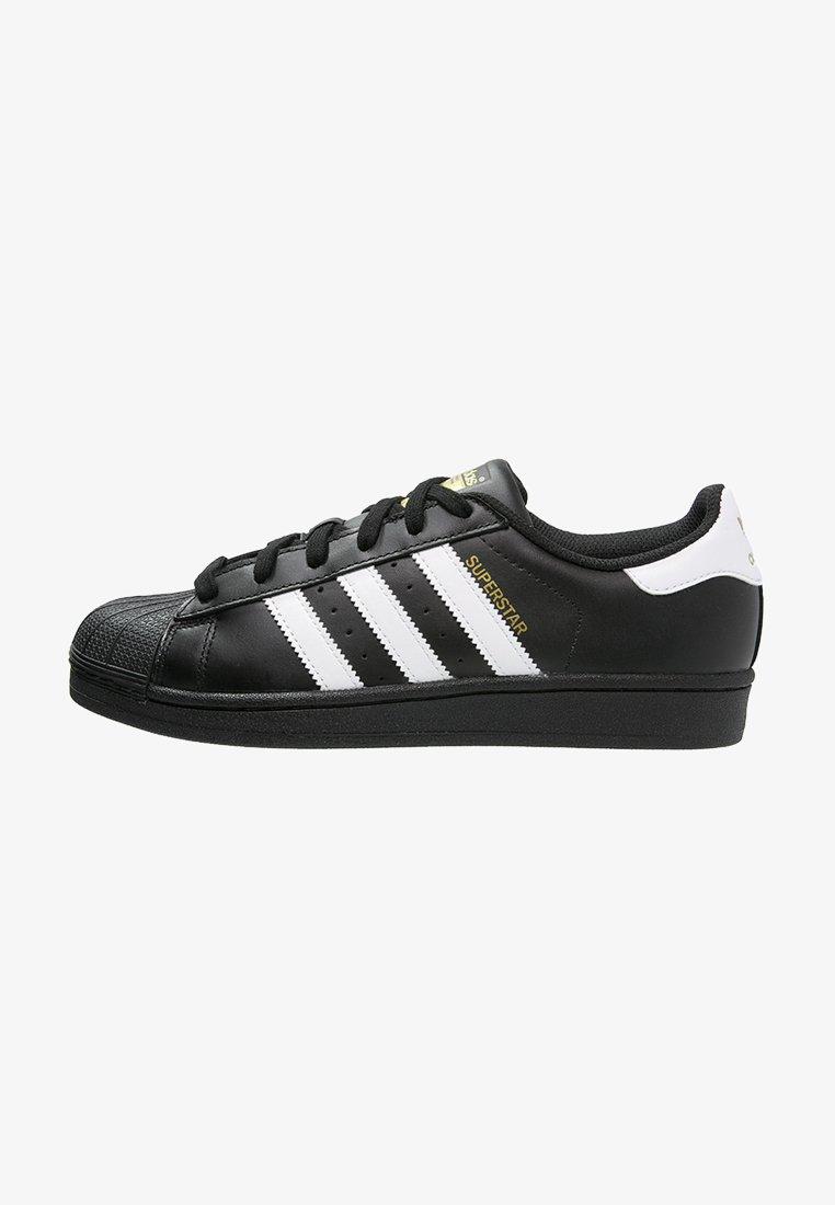 Adidas Originals Superstar Foundation All Black Style Shoes Baskets Basses Noir Blanc Noir Zalando Fr
