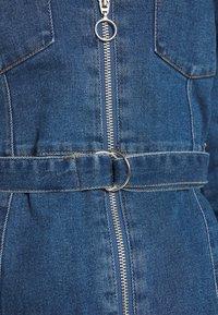 ONLY - ONLPHILLY LIFE ZIPPER DRESS - Denim dress - medium blue denim - 5