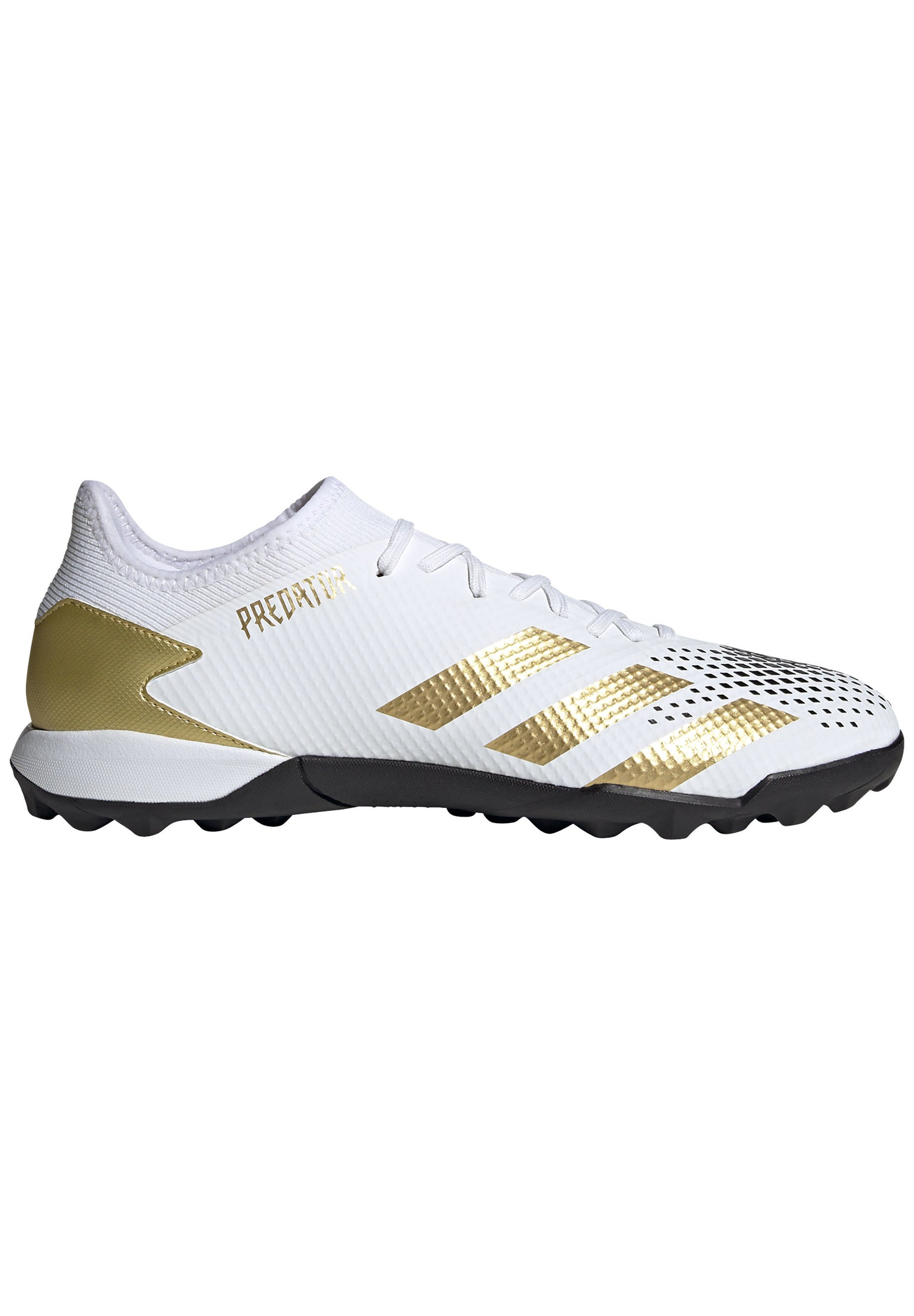 Fußballschuh Multinocken footwear white gold metallic core black