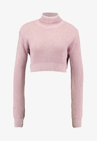 Glamorous - CROP ROLL NECK - Sweter - dusty pink - 4
