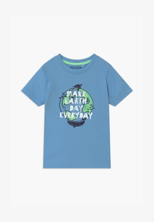 SMALL BOYS EARTH DAY - Print T-shirt - hellblau
