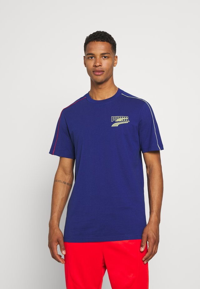 COLOUR BLOCK TEE - Camiseta estampada - elektro blue