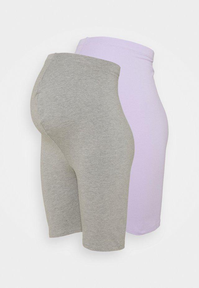 2 PACK  - Shorts - lilac/grey