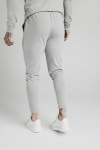 SIKSILK - SMART PLEATED JOGGERS - Pantaloni sportivi - grey marl - 2