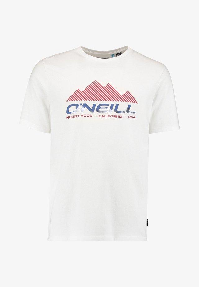 DAN - T-shirt imprimé - powder white