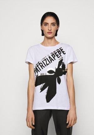 LOGO SHIRT - T-shirt imprimé - bianco ottico