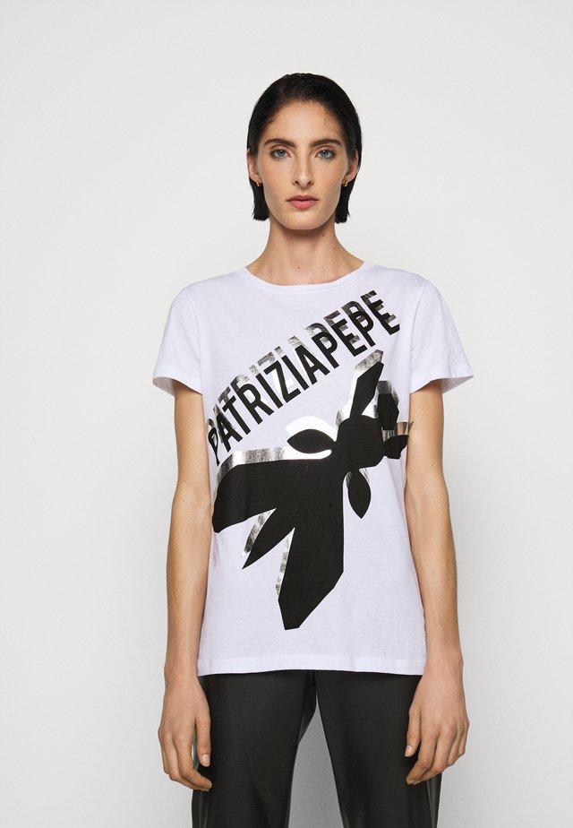 LOGO SHIRT - T-shirt con stampa - bianco ottico