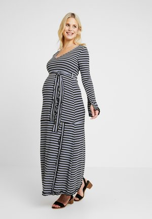 DRESS SERLINA - Jersey dress - sax/ecru/black