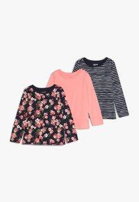 Zalando Essentials Kids - 3 PACK - Langærmede T-shirts - peacoat - 0