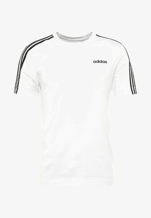 ESSENTIALS SPORTS SHORT SLEEVE TEE - Print T-shirt - white/black