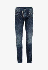 Cipo & Baxx - MIT ZIERNÄHTEN UND REISSVERSCHLÜSSEN - Straight leg jeans - donkerblauw - 6
