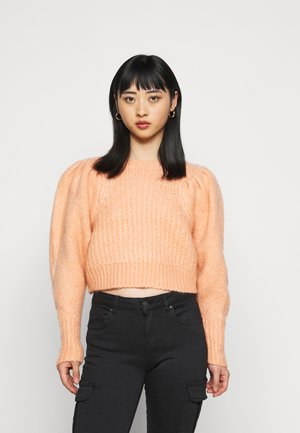 PLEAT CROP - Jumper - pink