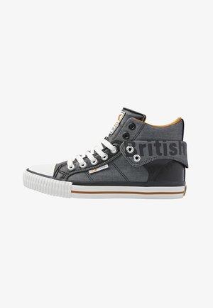 ROCO - Sneakers hoog - black/cognac