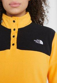 The North Face - GLACIER SNAP NECK  - Fleecetröja - yellow/black - 6