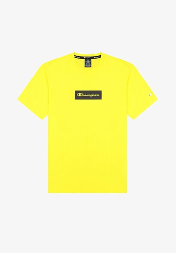 Print T-shirt - pastel yellow