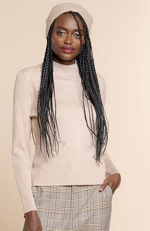 KNITTED TOP - Trui - sand