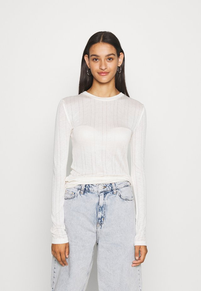 KATJA LONGSLEEVE - Long sleeved top - off white