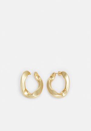 BOUCLES D OREILLES AVEC ANNEAU LARGE - Earrings - gold-coloured
