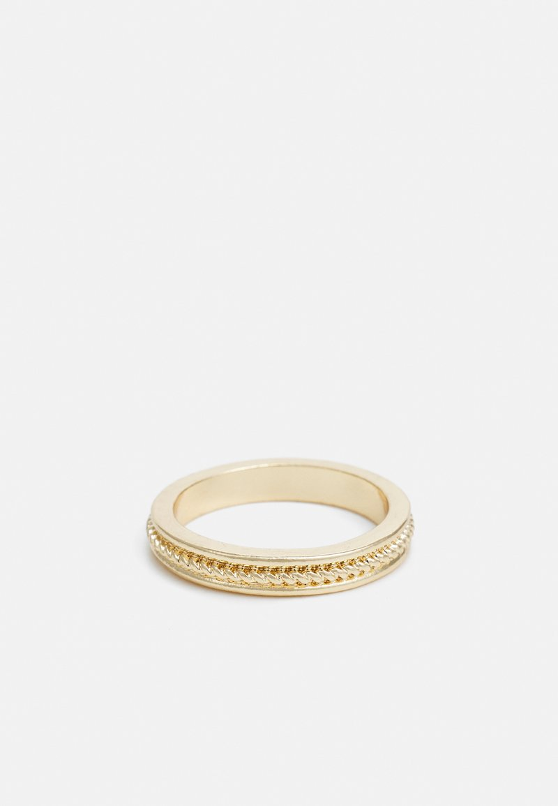 Topman - TWIST DETAIL - Ring - gold-coloured