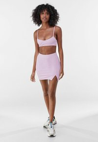 Bershka - Mini skirt - mauve - 1