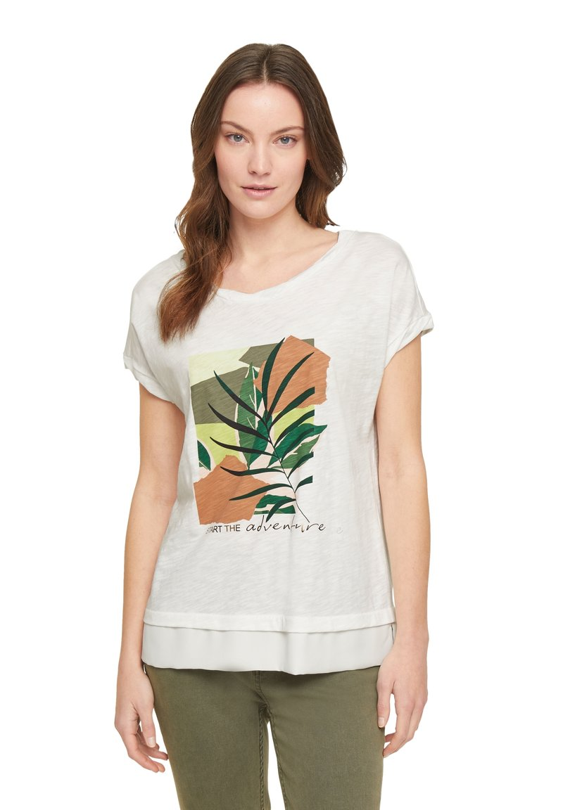 comma casual identity - Print T-shirt - offwhite placed print
