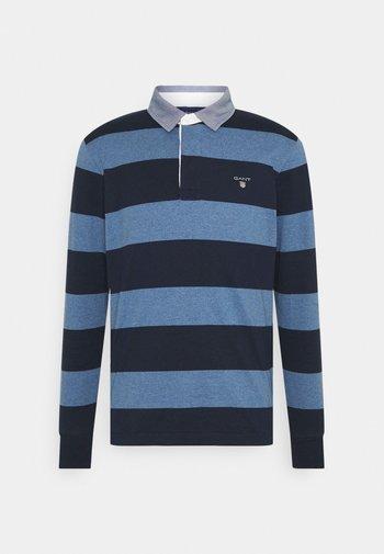 HEAVY RUGGER - Polo shirt - denim blue melange