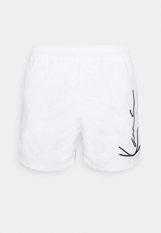 SIGNATURE BOARD - Shorts da mare - white