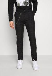 Brave Soul - CHESTER - Spodnie materiałowe - dark grey - 0