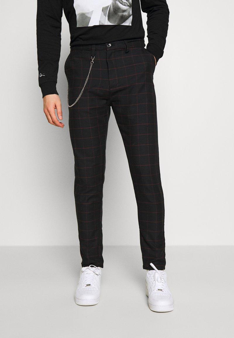 Brave Soul - CHESTER - Spodnie materiałowe - dark grey