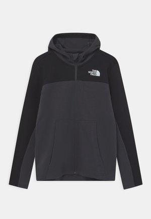 SLACKER FULL ZIP HOODIE UNISEX - Zip-up sweatshirt - asphalt grey/black
