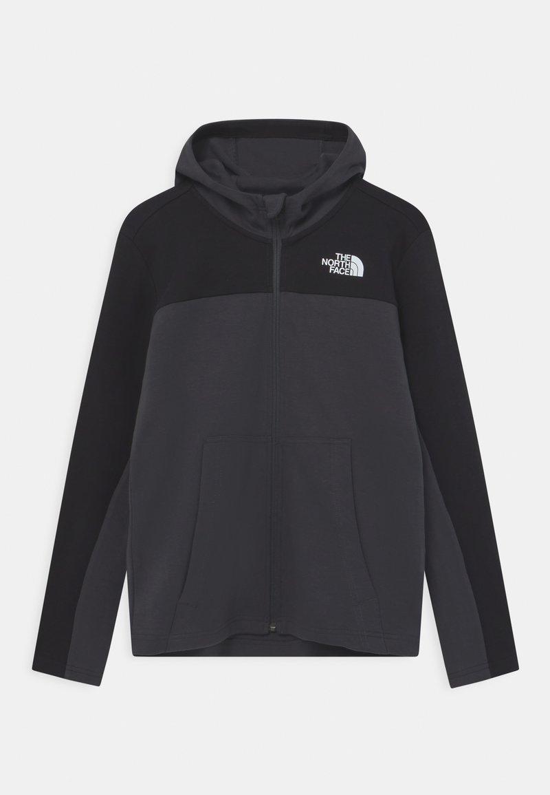 The North Face - SLACKER FULL ZIP HOODIE UNISEX - Zip-up sweatshirt - asphalt grey/black