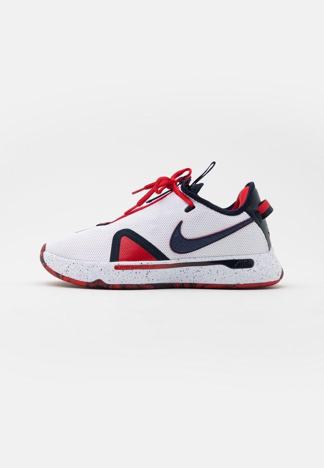 PG 4 - Chaussures de basket - white/obsidian/university red