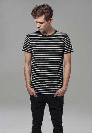 STRIPED TEE - T-shirt med print - black/white