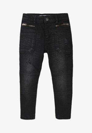 ADJUSTABLE WAIST - Slim fit jeans - black