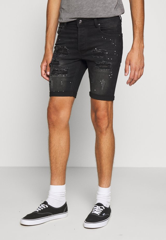 ROCKETSKINNY - Denim shorts - black
