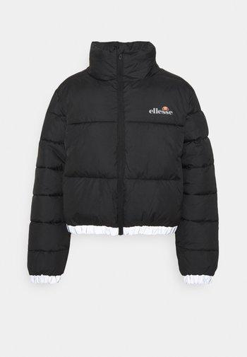 CROPPED PUFFER JACKET - Winter jacket - black