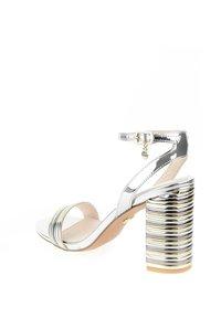 PRIMA MODA - PALLANO - High heeled sandals - platinum - 3