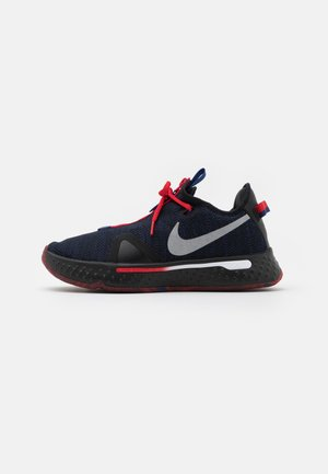 PG 4 - Basketball shoes - black/metallic silver/rush blue/university red