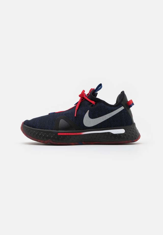 PG 4 - Obuwie do koszykówki - black/metallic silver/rush blue/university red