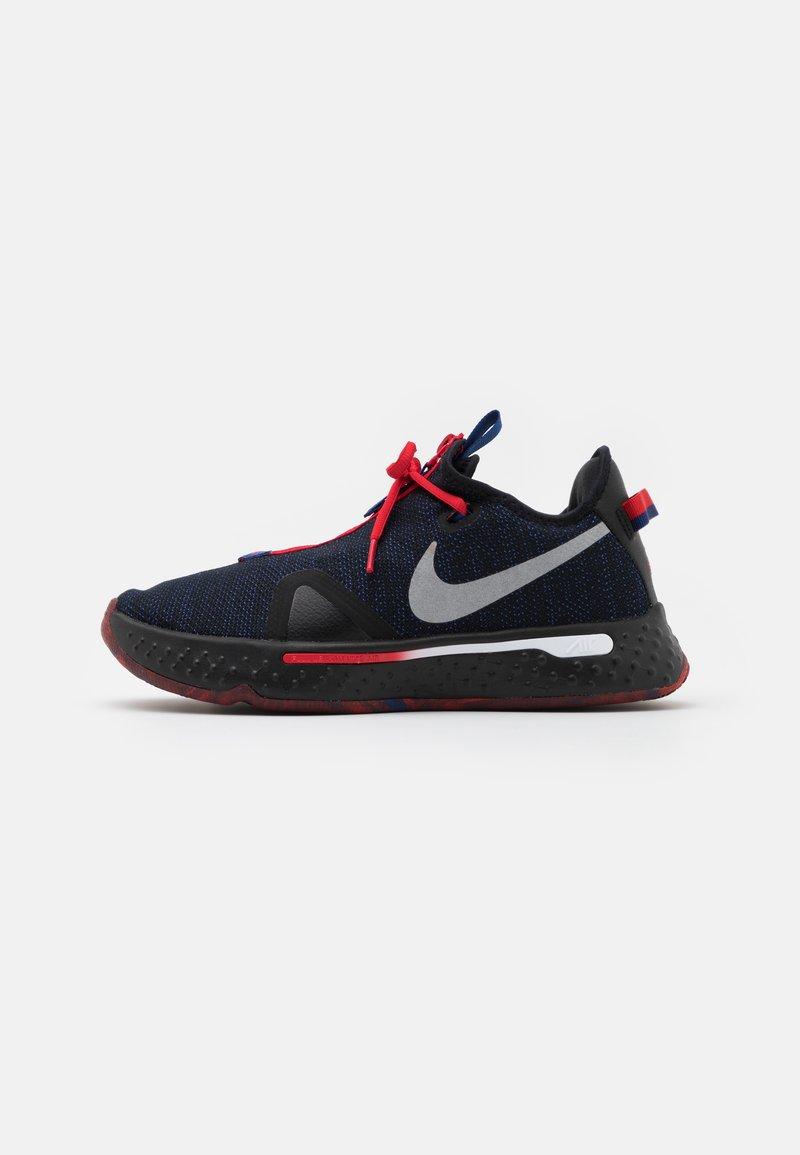 Nike Performance - PG 4 - Basketbalové boty - black/metallic silver/rush blue/university red