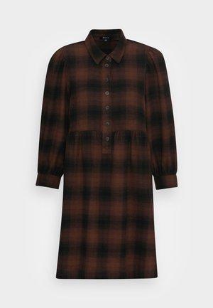 BABYDOLL SHIRTDRESS  - Robe d'été - rich brown