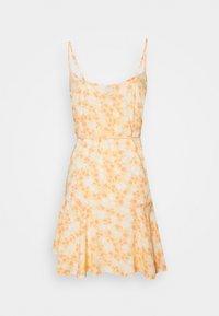Pieces Petite - PCNYA SLIP BUTTON DRESS - Kjole - apricot cream - 1