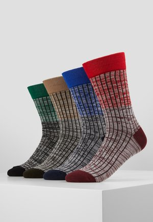 JACHAFT TWISTED SOCKS 4 PACK - Sukat - rio red/surf the web - verdant gree