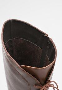 San Marina - EGO - Šněrovací vysoké boty - cognac - 5