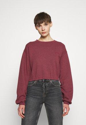 BUBBLE HEM - Sweatshirt - dark pink